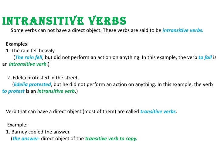 how to detect transitive and intransitive verbs