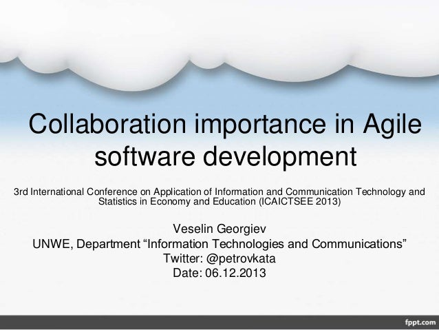 Collaboration Importance In Agile Software Development
