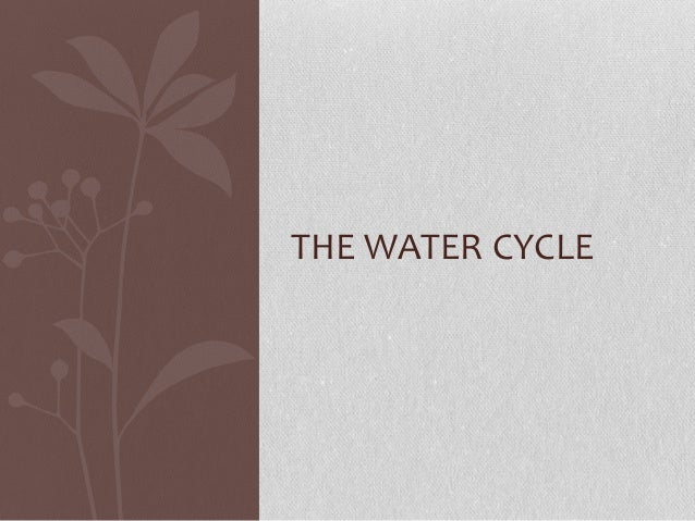 Presentation(watercycle)