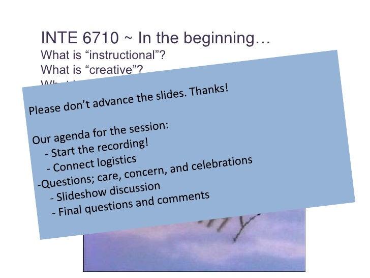 INTE 6710 Week 2 Presentation