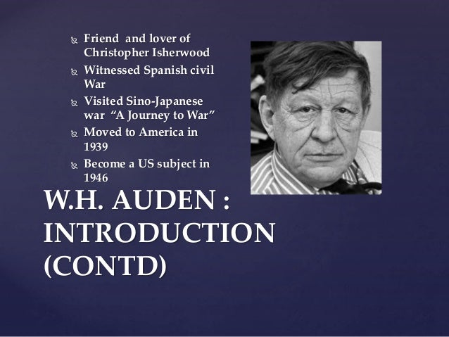 W H Auden war poetry