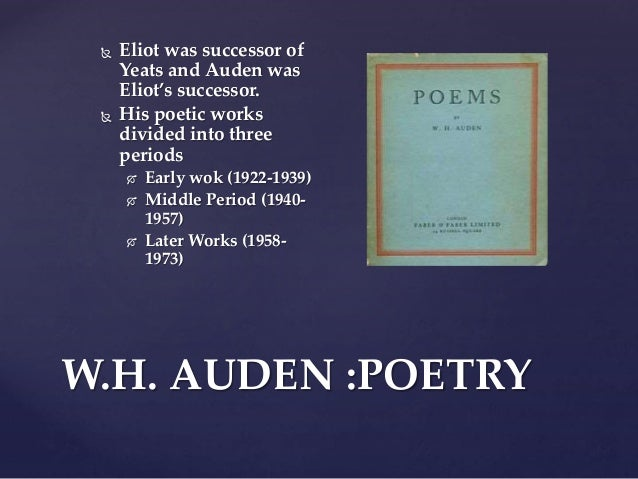 an analysis of the poem stop all the clocks by w h auden Analysis of auden's elegiac poem  funeral blues - annotation 1  stop all the clocks wh auden.