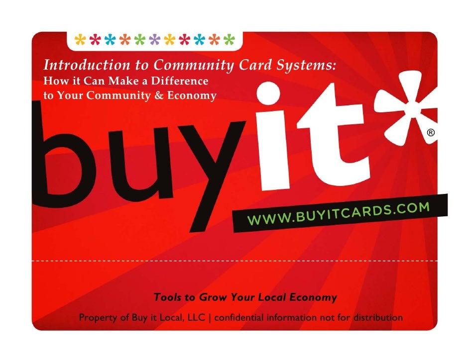 IntroductiontoCommunityCardSystems: HowitCanMakeaDifference toYourCommunity&Economy                         ...
