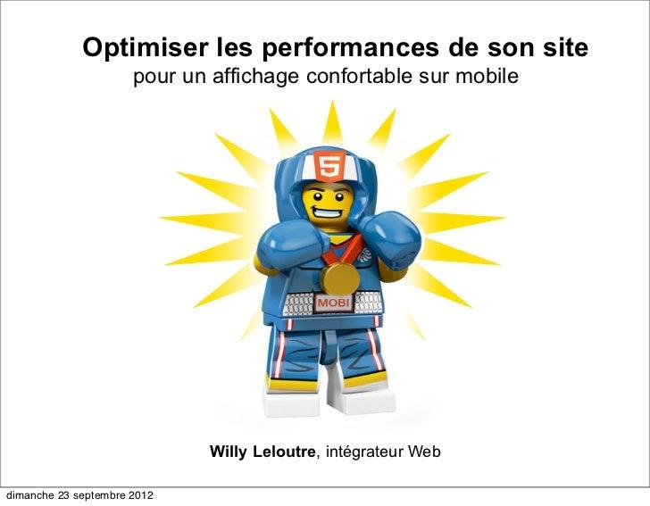 Optimiser les performances de son site                      pour un affichage confortable sur mobile                      ...