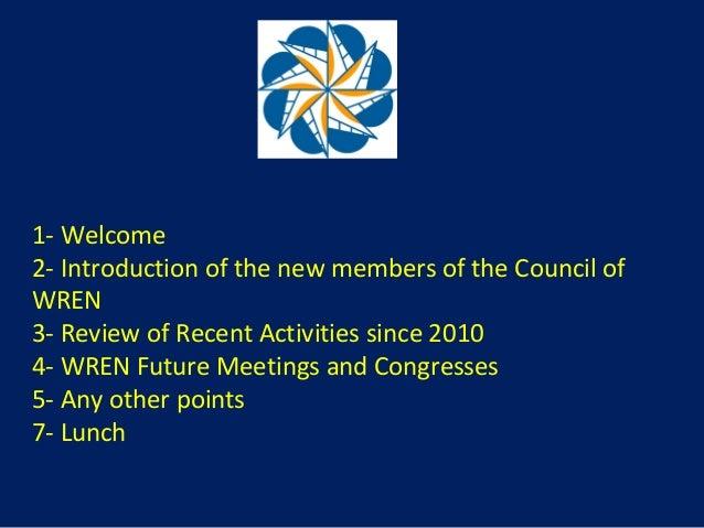 World Renewable Energy Congress Presentation wren at council denver 2010