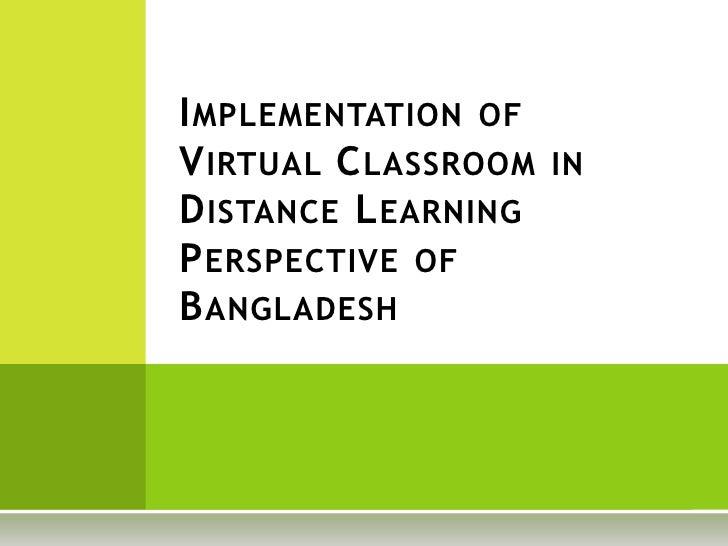 Virtual Classroom & Bangladesh Perspective