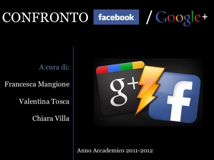 CONFRONTO                                   /     +         A cura di:Francesca Mangione    Valentina Tosca       Chiara V...