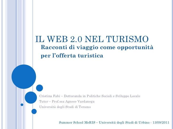 Summer School Meris - Presentazione Web 2.0 e Turismo