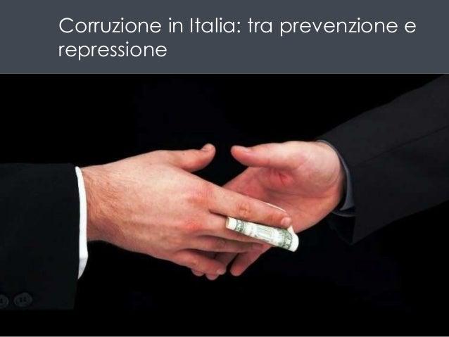 La corruzione pubblica in Italia