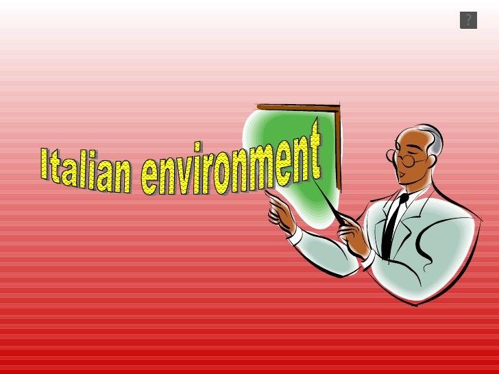 Italian environment