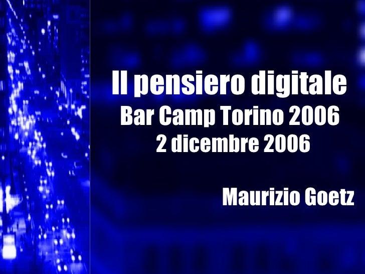 Presentazione di Maurizio Goetz al BarCamp Torino 2006