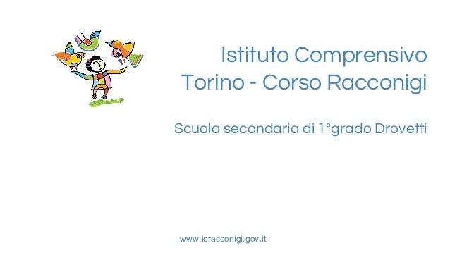 IC Torino-Corso Racconigi Presentazione Scuola secondaria 1° grado