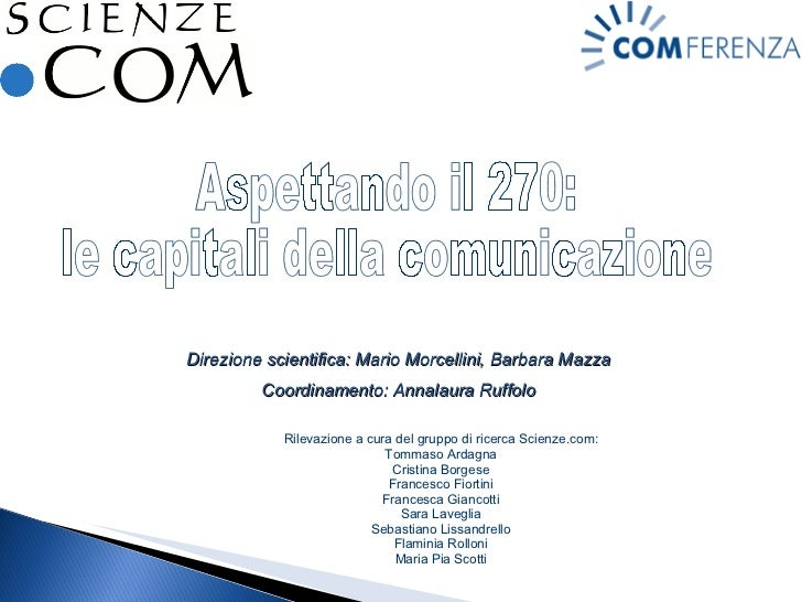 Presentazione Finale Capitali Comunicazione
