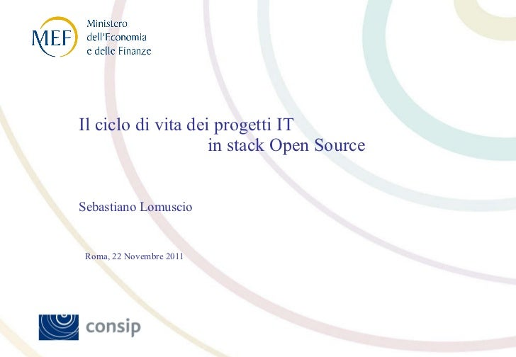 Focus Group Open Source 22.11.2011 Sebastiano Lomuscio