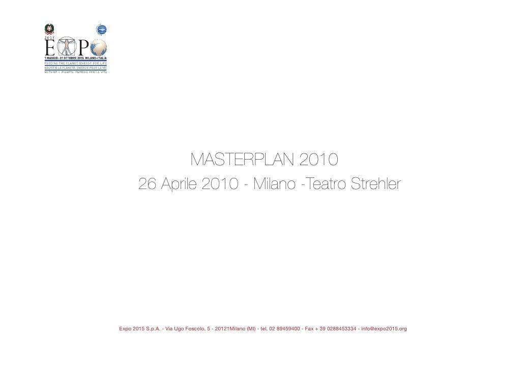 """Presentazione Masterplan """"MILANO EXPO 2015"""""""