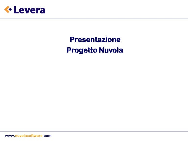 Presentazione Nuvola Software