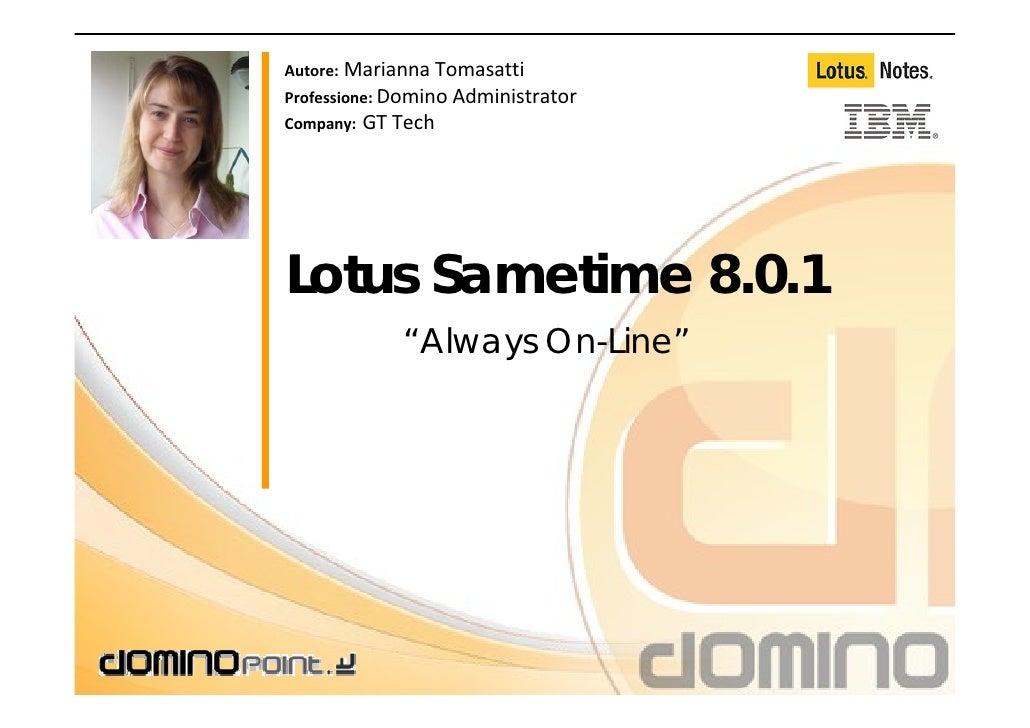 Sametime 8.x configurarlo ed installarlo
