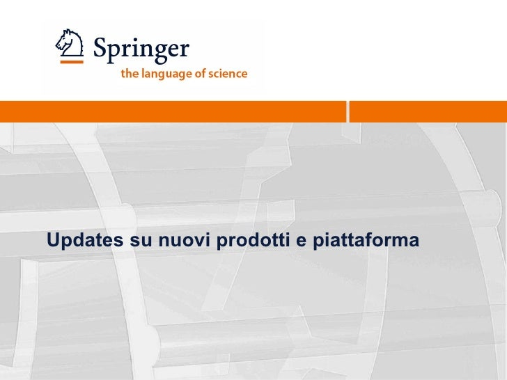 Presentazione Springer