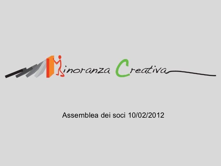 Assemblea dei soci 10/02/2012