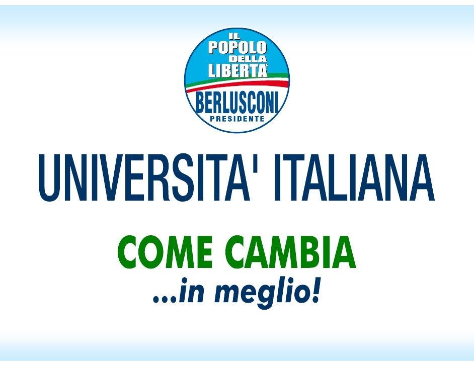 Università italiana come cambia... in meglio