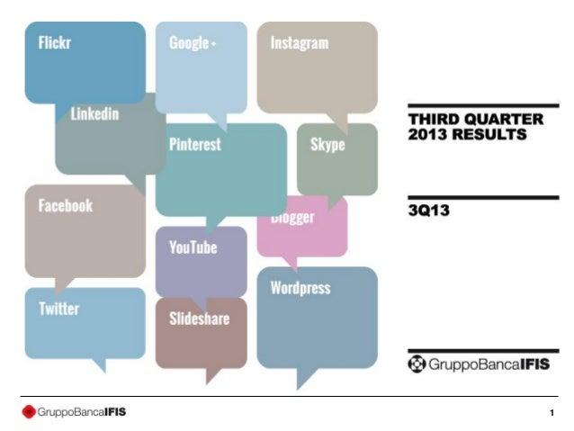 2013 Third quarter results presentation