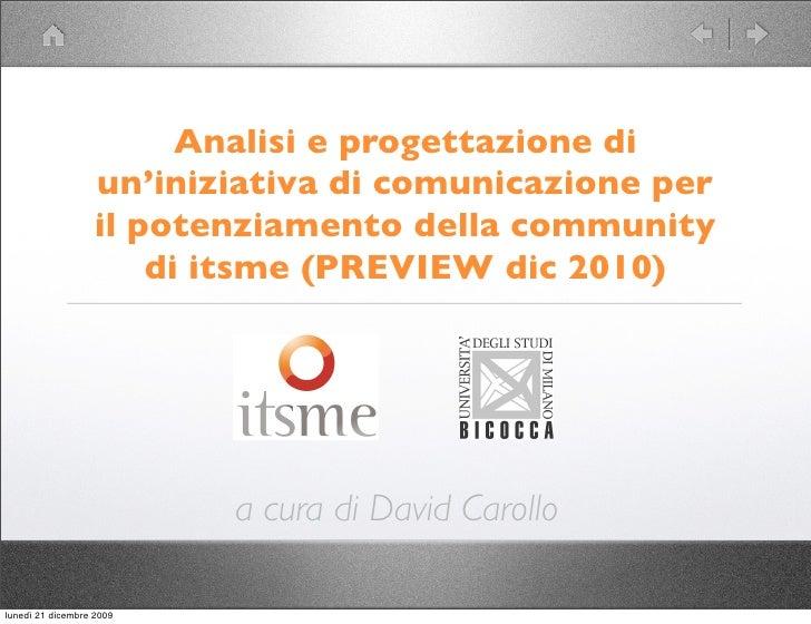 Analisi e progettazione di                    un'iniziativa di comunicazione per                    il potenziamento della...