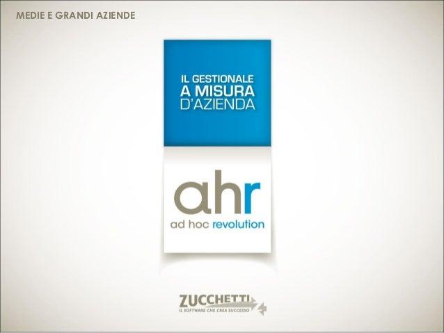 Ad Hoc Revolution Zucchetti: il gestionale per la gestione integrata del tuo business.