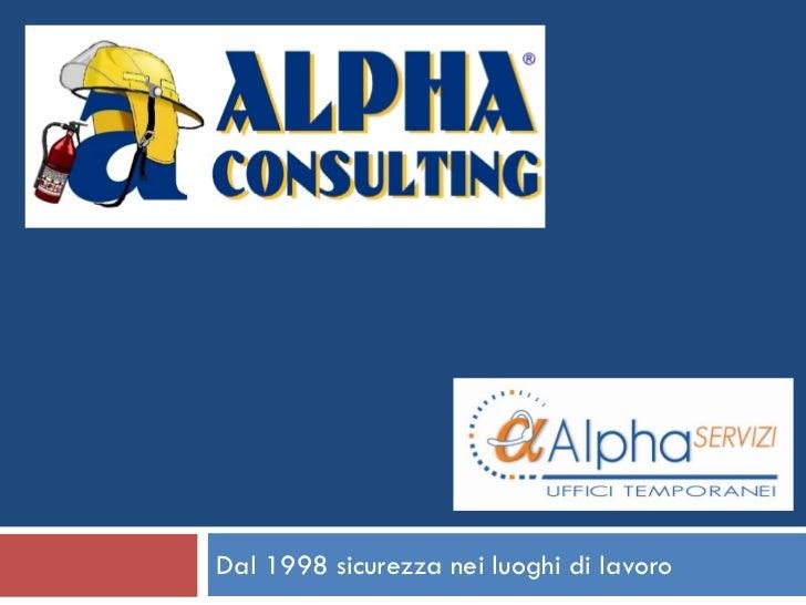 Presentazione Alpha Consulting