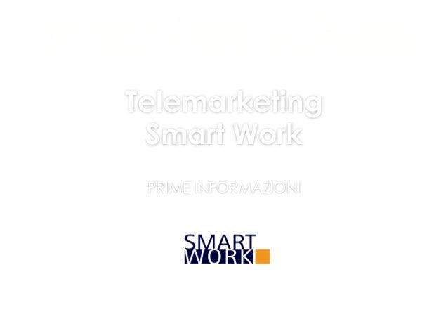 Telemarketing Smart Work PRIME INFORMAZIONI