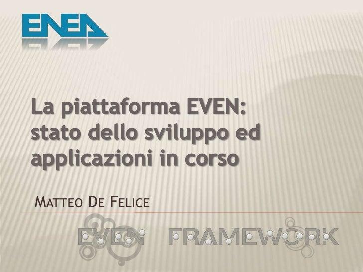 EVEN Presentation - April 2009