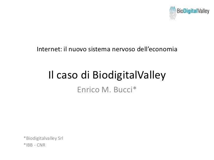 Presentazione biodigitalvalley