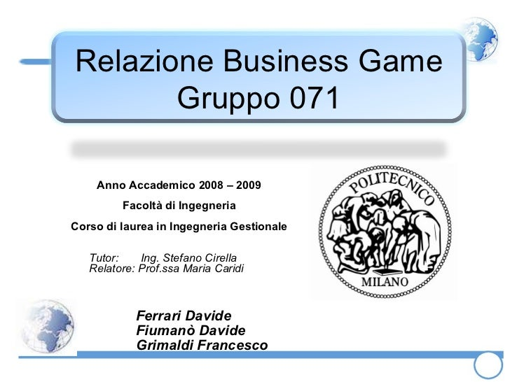 Business Game 2009