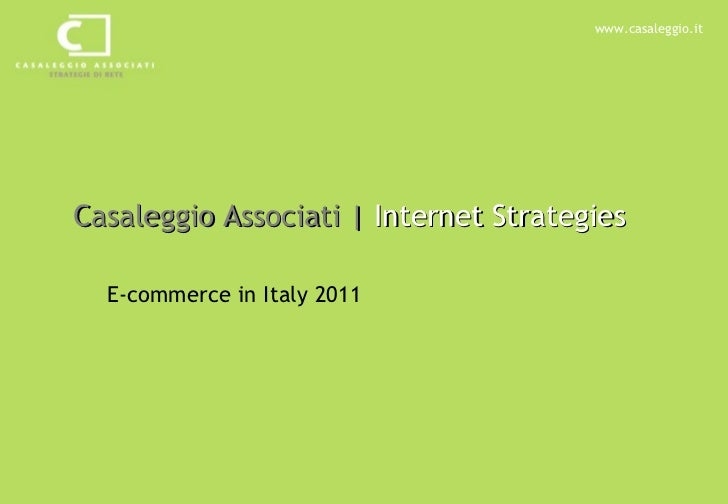 Ecommerce in Italy 2011