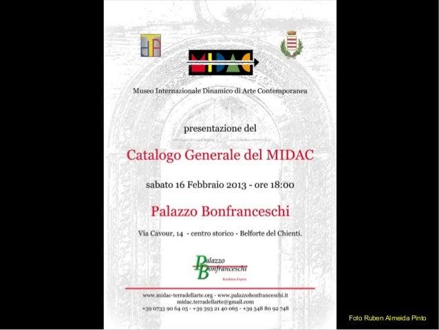 Presentazione Catalogo Museo MIDAC Palazzo Bonfranceschi Belforte del Chienti