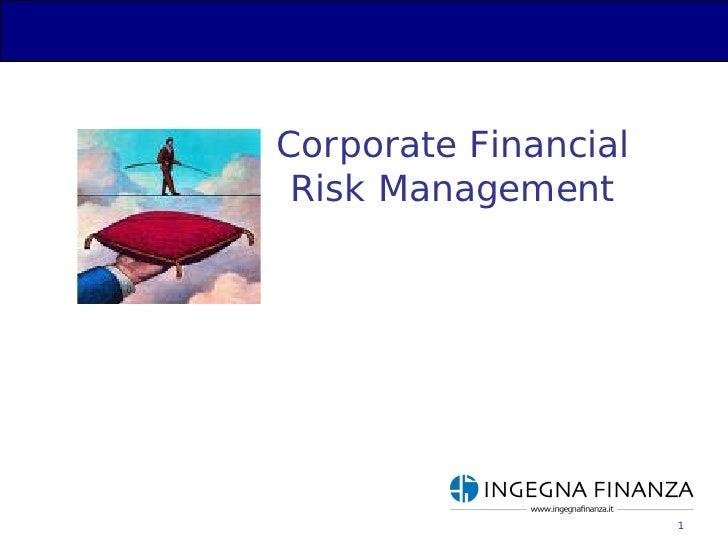 Presentazione Cfrm Ingegna Finanza 2009