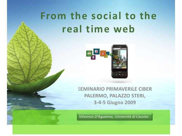 From social web to real-time web