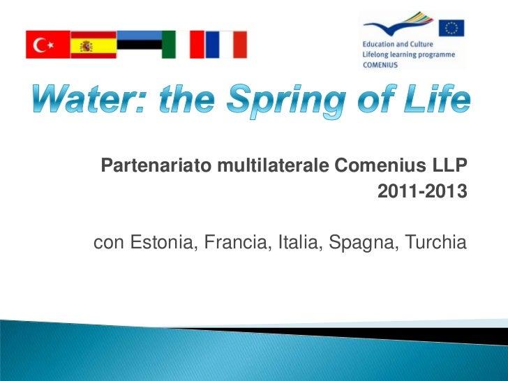 Partenariato multilaterale Comenius LLP                              2011-2013con Estonia, Francia, Italia, Spagna, Turchia