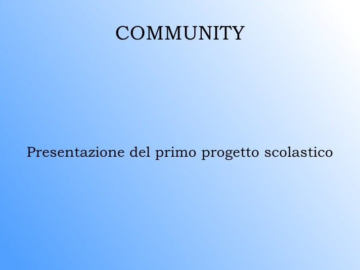 Progetto Comunity