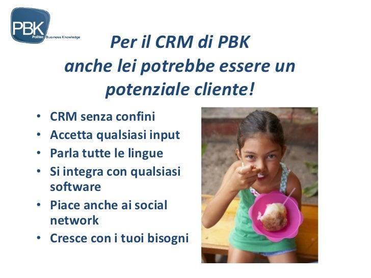 Presentazione crm pbk
