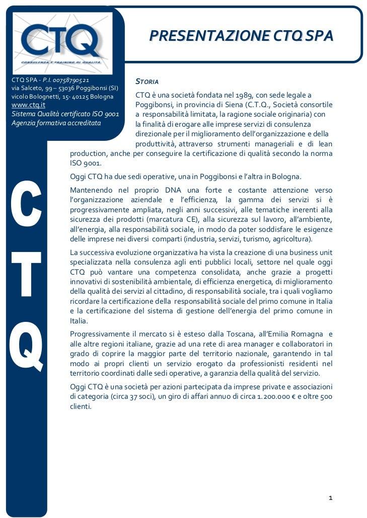 CTQ Spa Presentazione