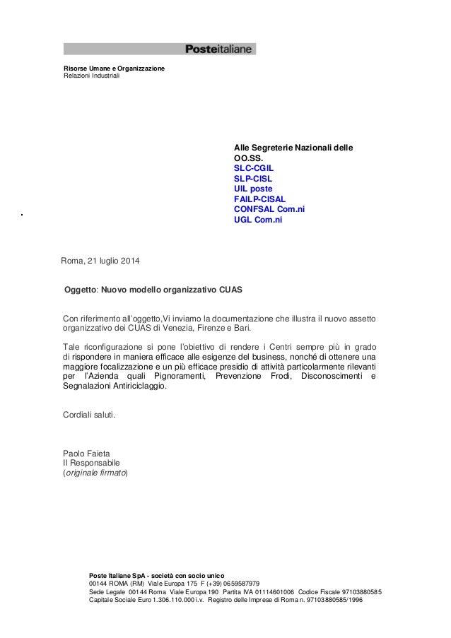 Poste Italiane SpA - società con socio unico 00144 ROMA (RM) Viale Europa 175 F (+39) 0659587979 Sede Legale 00144 Roma Vi...