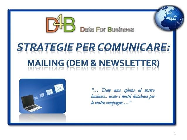D4B Database Liste Email aggiorato a novembre 2010