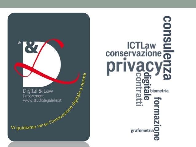 Chi siamo Il Digital & Law Department è un moderno dipartimento legale, specializzato nell'offrire consulenza nel settore ...