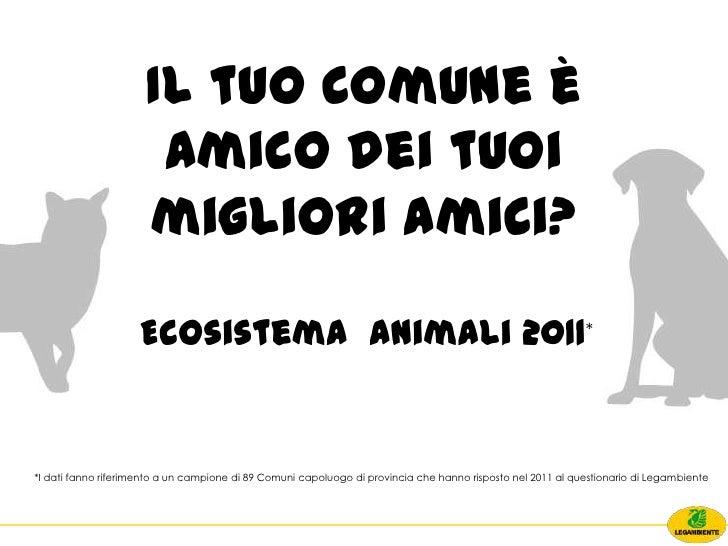Ecosistema Animali 2011 Legambiente