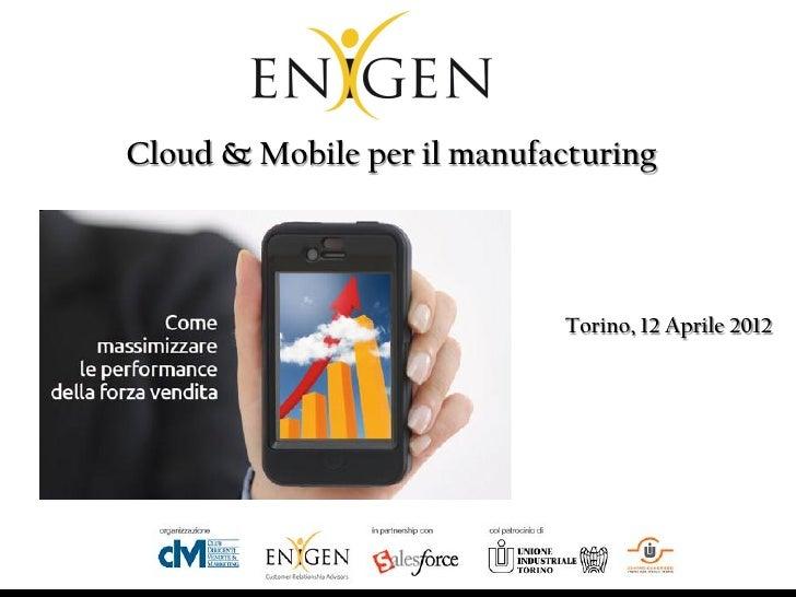 Presentazione evento manufacturing 2012
