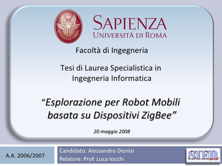 Alessandro Dionisi Thesis Presentation