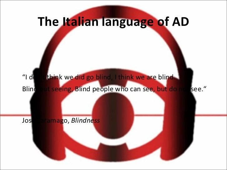 L'audiodescrizione in Italia