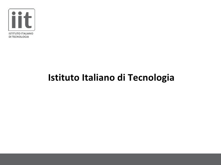 Istituto Italiano di Tecnologia and Technology Transfer