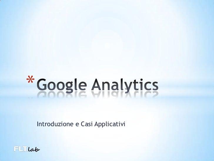 Google Analytics - intruduzione
