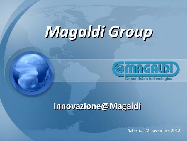 Magaldi Group – Innovazione @Magaldi
